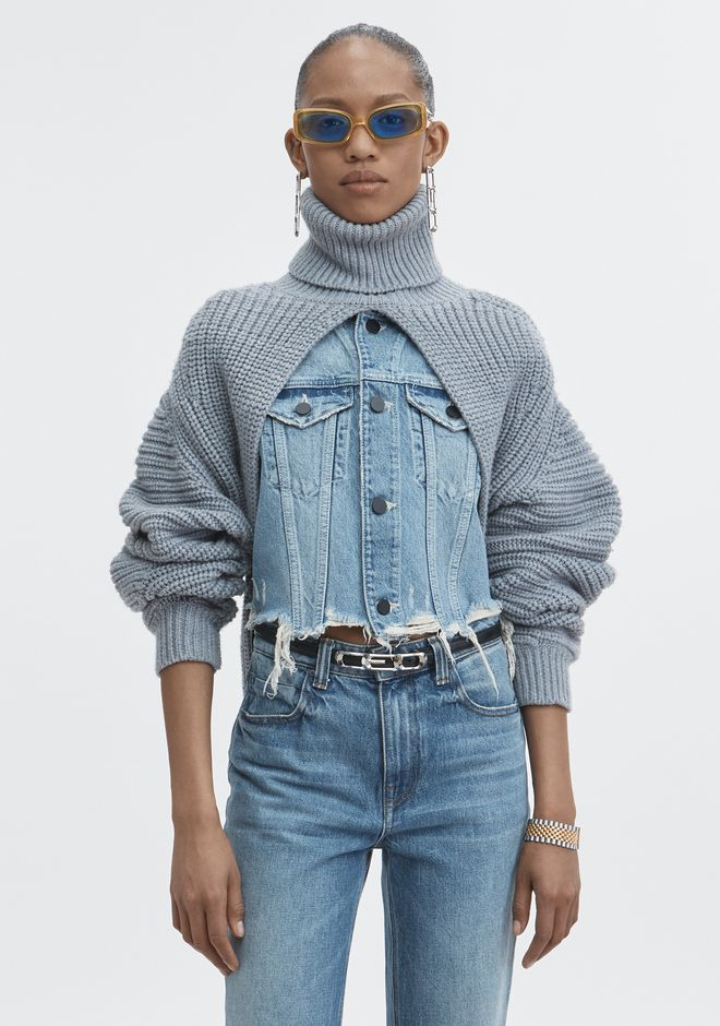 ALEXANDER WANG neuheiten SPLIT TURTLENECK SHRUG