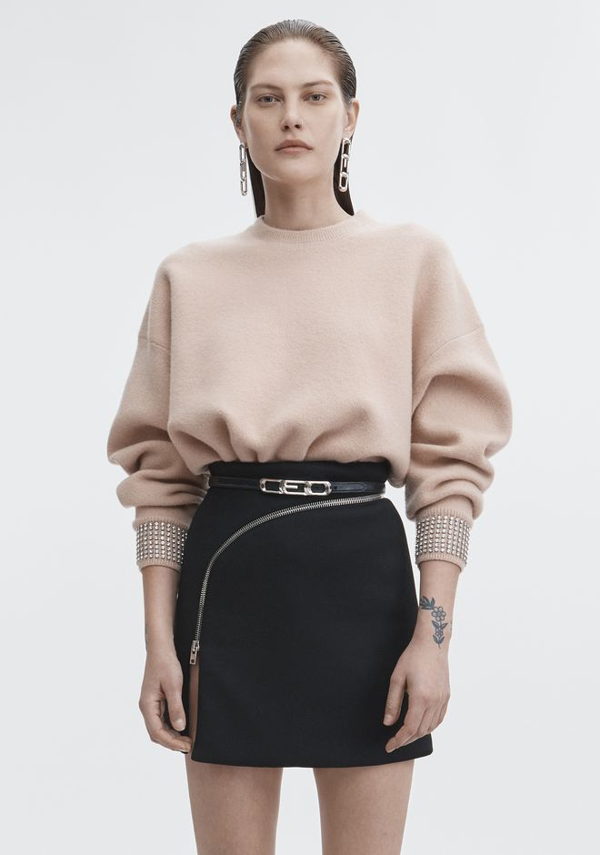 ALEXANDER WANG new-arrivals-ready-to-wear-woman CRYSTAL CUFF PULLOVER