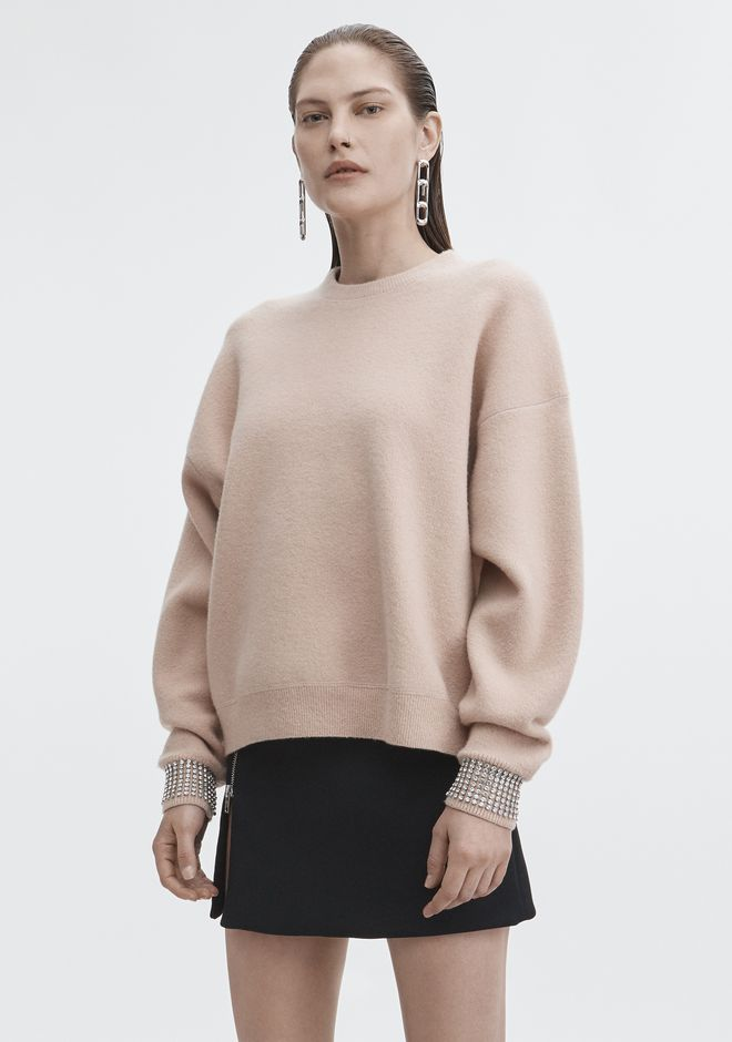 ALEXANDER WANG CRYSTAL CUFF PULLOVER TOP Adult 12_n_a