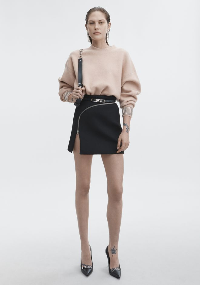 ALEXANDER WANG CRYSTAL CUFF PULLOVER TOP Adult 12_n_f