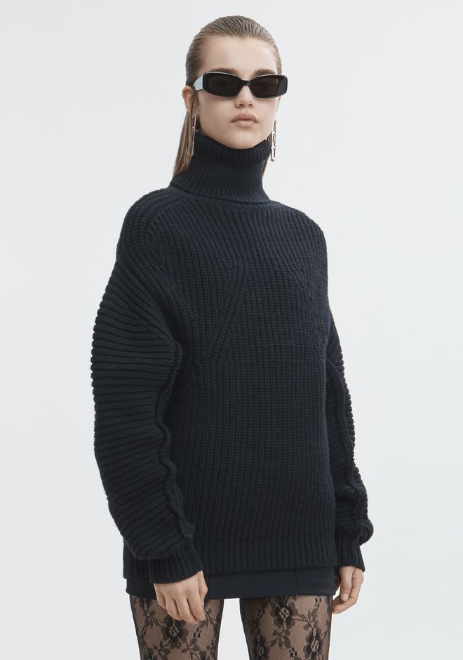 ALEXANDER WANG MOLDED TURTLENECK PULLOVER TOP Adult 12_n_a