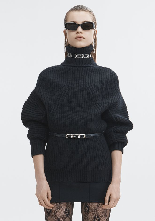 ALEXANDER WANG MOLDED TURTLENECK PULLOVER TOP Adult 12_n_e