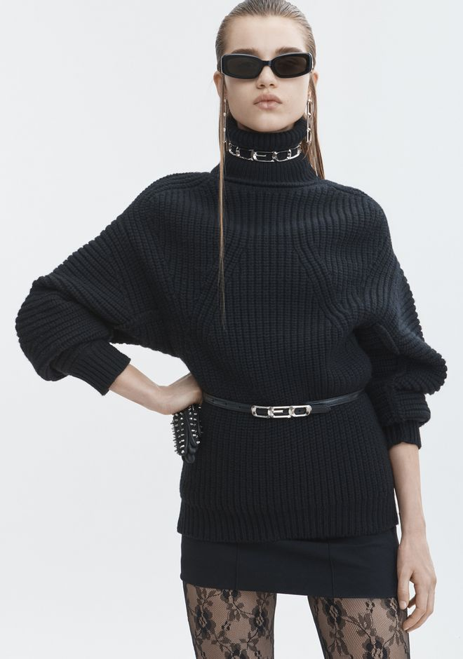 ALEXANDER WANG MOLDED TURTLENECK PULLOVER TOP Adult 12_n_r