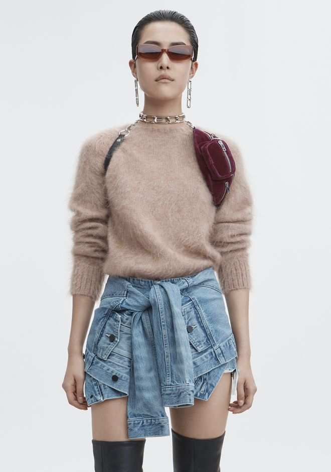 T by ALEXANDER WANG TOPS Women MOHAIR PULLOVER