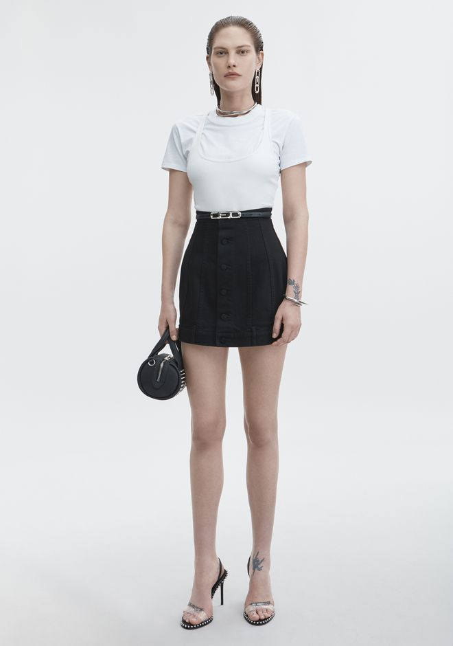 T by ALEXANDER WANG BI-LAYER RIB TOP TOP Adult 12_n_f