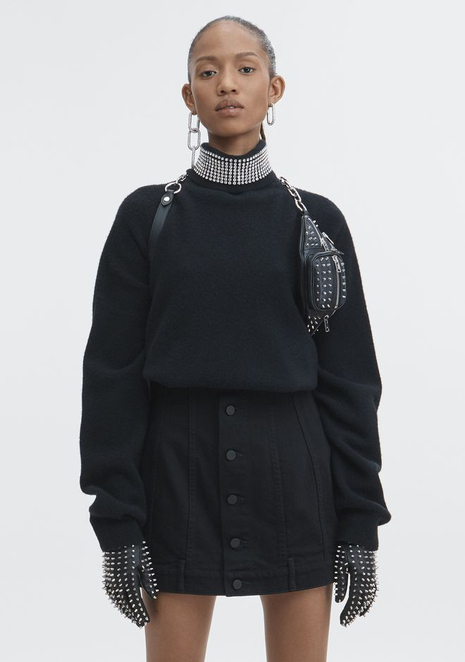 ALEXANDER WANG new-arrivals-ready-to-wear-woman CRYSTAL TURTLENECK SWEATER