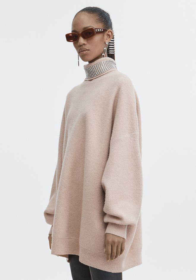 ALEXANDER WANG CRYSTAL TURTLENECK SWEATER 上衣 Adult 12_n_a