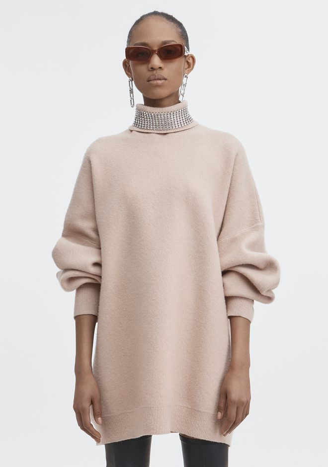 ALEXANDER WANG CRYSTAL TURTLENECK SWEATER 上衣 Adult 12_n_e