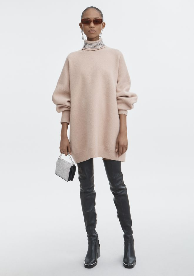 ALEXANDER WANG CRYSTAL TURTLENECK SWEATER 上衣 Adult 12_n_f