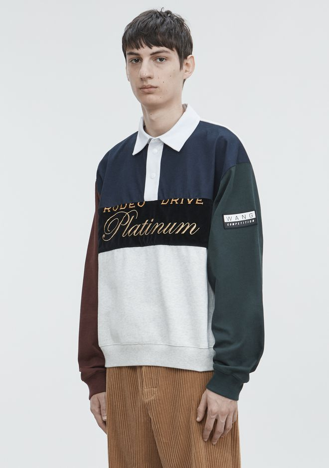 ALEXANDER WANG PLATINUM RUGBY PULLOVER SWEATER Adult 12_n_a