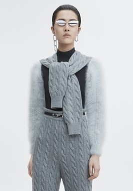 CABLE HYBRID SWEATER