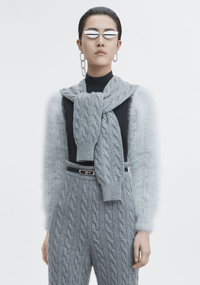 ALEXANDER WANG strickwaren-ready-to-wear-damenbekleidung CABLE HYBRID SWEATER