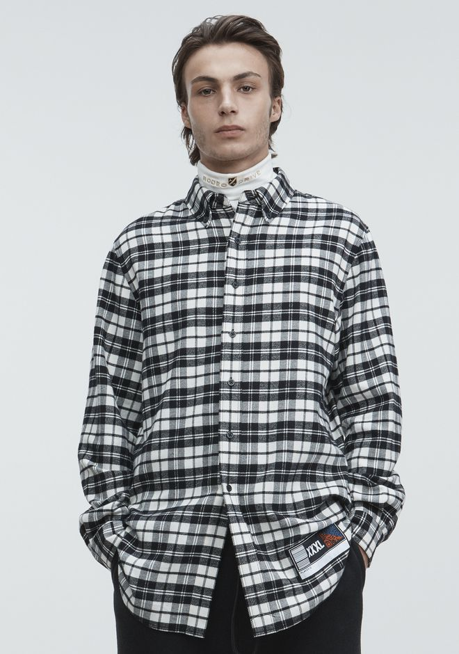 ALEXANDER WANG TOPS Men PLAYER ID FLANNEL