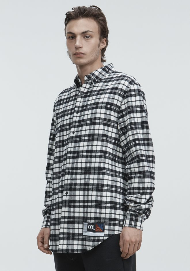 ALEXANDER WANG PLAYER ID FLANNEL TOP Adult 12_n_a