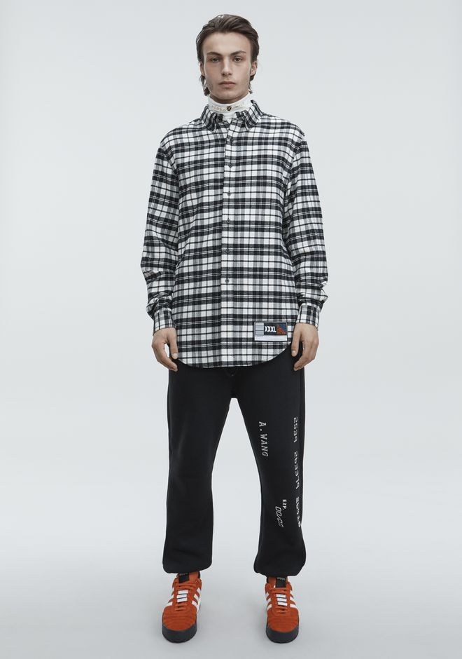 ALEXANDER WANG PLAYER ID FLANNEL TOP Adult 12_n_f