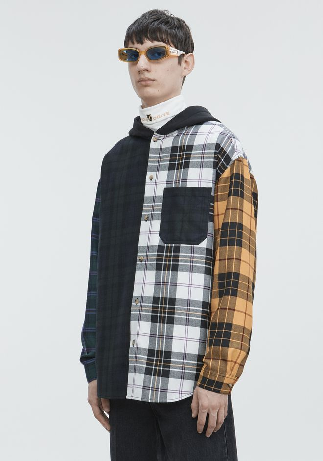 ALEXANDER WANG PLAID HOODED SHIRT  トップス Adult 12_n_a