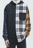 ALEXANDER WANG PLAID HOODED SHIRT  TOP Adult 8_n_r