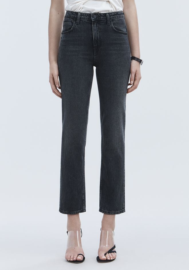 ALEXANDER WANG CULT STRAIGHT LEG JEAN DENIM Adult 12_n_a