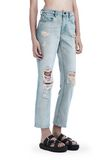 ALEXANDER WANG DESTROYED CULT STRAIGHT LEG JEAN  DENIM Adult 8_n_e