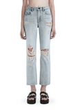 ALEXANDER WANG DESTROYED CULT STRAIGHT LEG JEAN  DENIM Adult 8_n_r