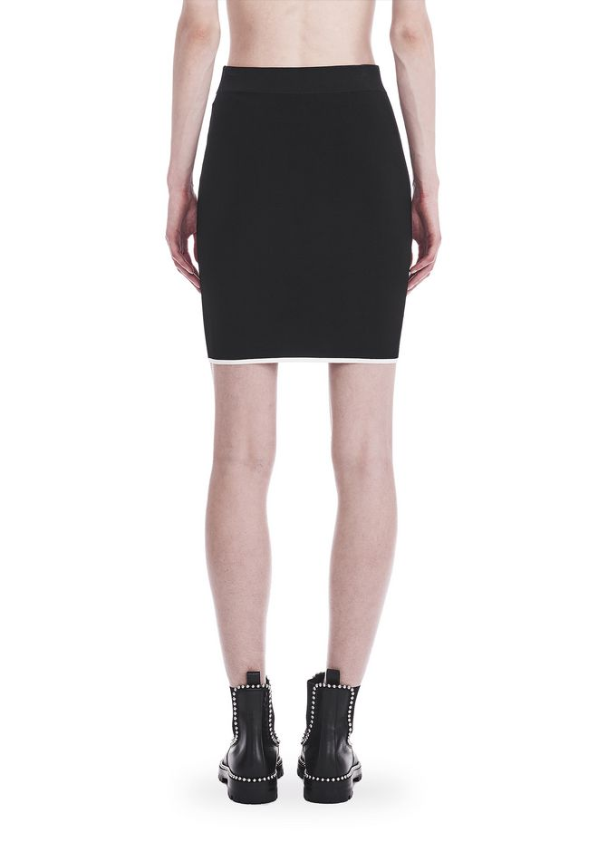 T by ALEXANDER WANG KNIT PENCIL SKIRT WITH TIPPING 半裙 Adult 12_n_a