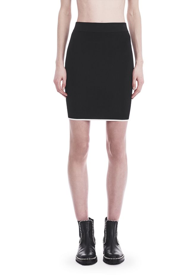 T by ALEXANDER WANG KNIT PENCIL SKIRT WITH TIPPING 半裙 Adult 12_n_d