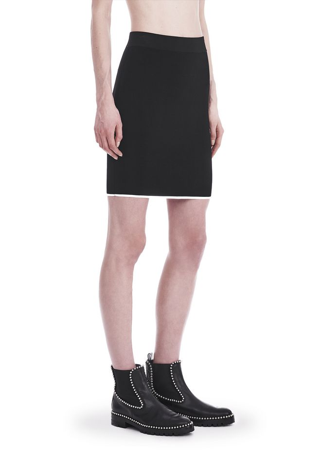 T by ALEXANDER WANG KNIT PENCIL SKIRT WITH TIPPING 半裙 Adult 12_n_e