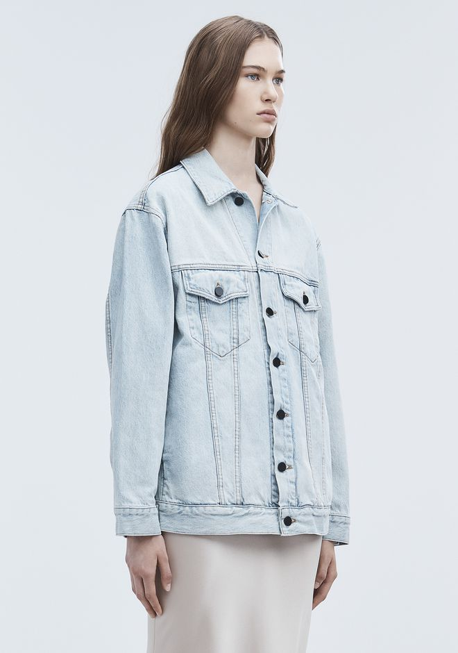 ALEXANDER WANG DAZE OVERSIZED DENIM JACKET DENIM Adult 12_n_a