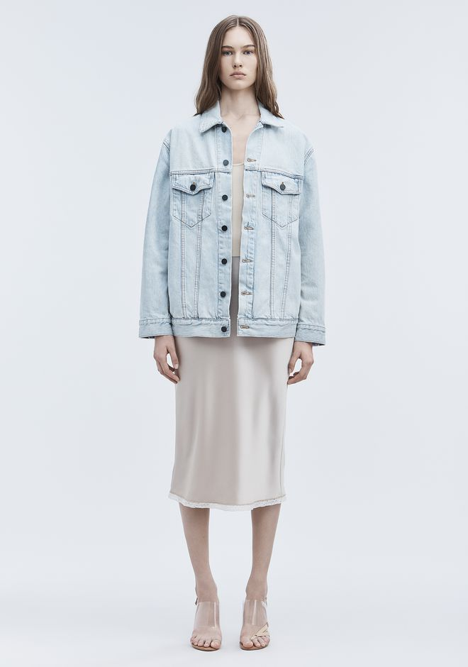 ALEXANDER WANG DAZE OVERSIZED DENIM JACKET デニム Adult 12_n_f