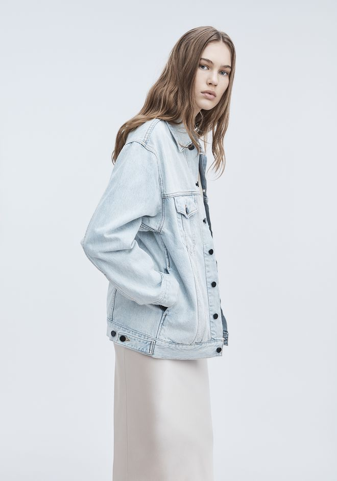 ALEXANDER WANG DAZE OVERSIZED DENIM JACKET デニム Adult 12_n_r
