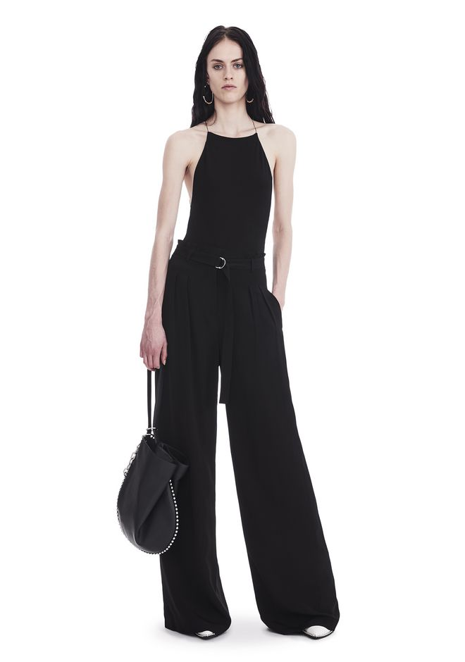 T by ALEXANDER WANG sltbbtm HIGH WAISTED SUIT PANTS WITH BELT