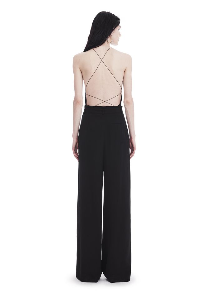 T by ALEXANDER WANG HIGH WAISTED SUIT PANTS WITH BELT 裤装 Adult 12_n_r