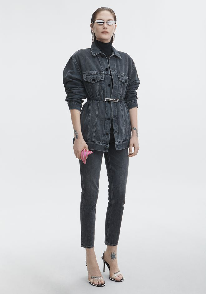 ALEXANDER WANG denim-x-aw DAZE OVERSIZED DENIM JACKET