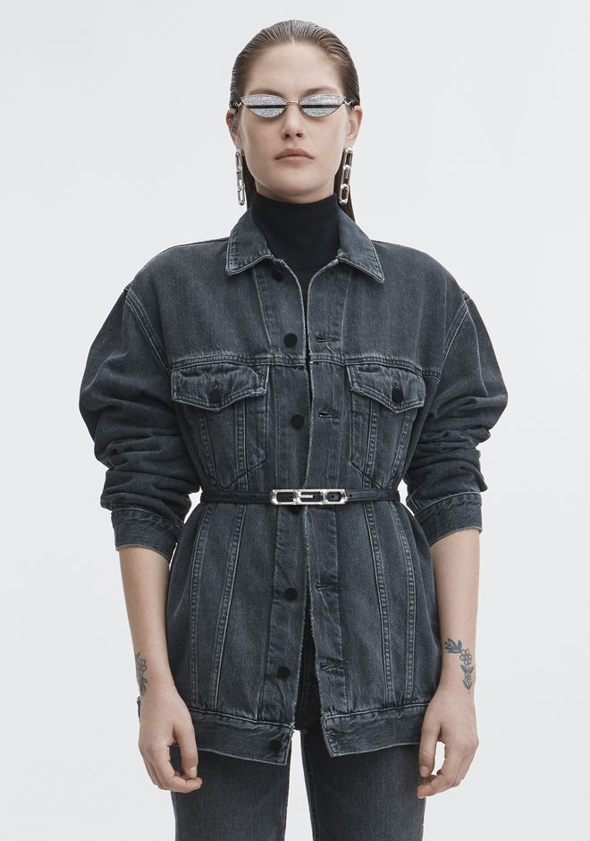 ALEXANDER WANG DAZE DENIM JACKET DENIM Adult 12_n_a
