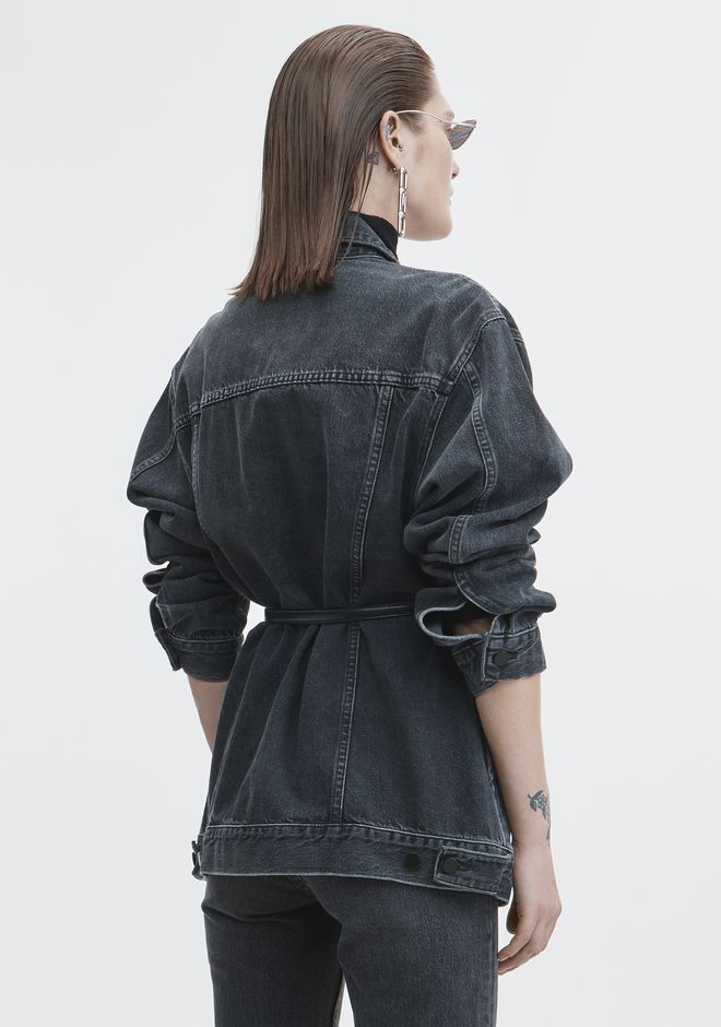 ALEXANDER WANG DAZE DENIM JACKET DENIM Adult 12_n_e