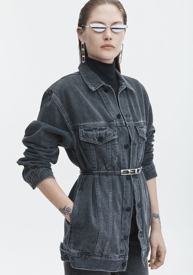 ALEXANDER WANG DAZE OVERSIZED DENIM JACKET DENIM Adult 12_n_r