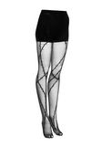 ALEXANDER WANG BARBED WIRE TIGHTS PANTS Adult 8_n_e
