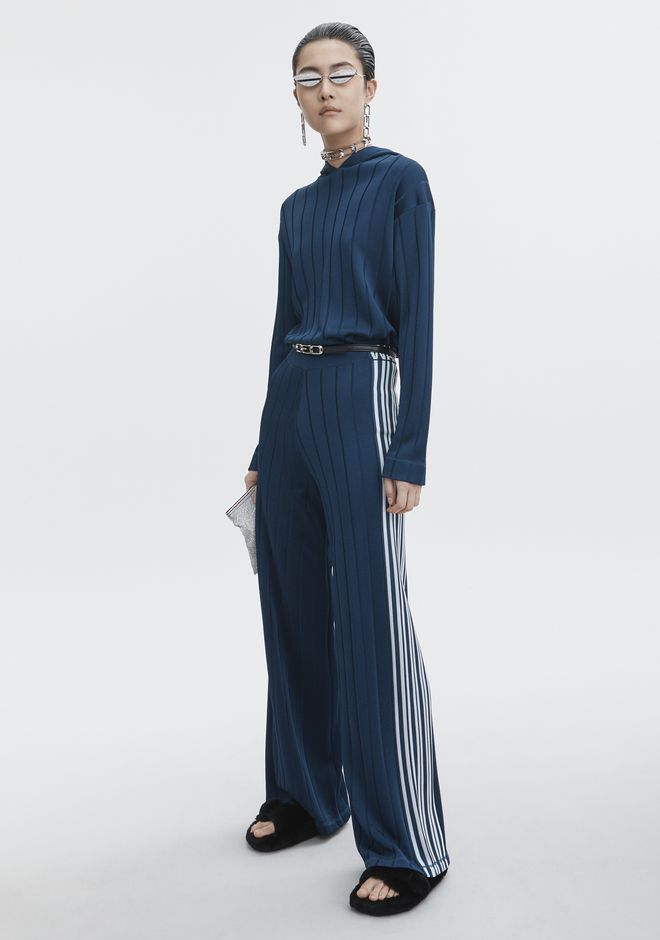 ALEXANDER WANG slrtwbtm EXCLUSIVE TRACK PANTS WITH BARCODE LOGO