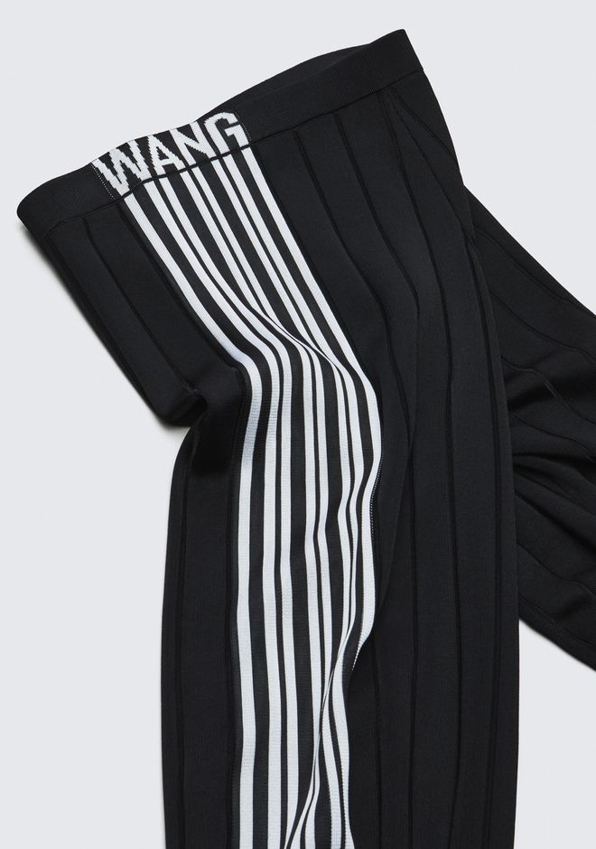 ALEXANDER WANG EXCLUSIVE TRACK PANTS WITH BARCODE LOGO PANTS Adult 12_n_a