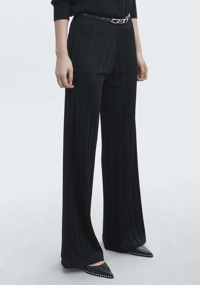 ALEXANDER WANG EXCLUSIVE TRACK PANTS WITH BARCODE LOGO PANTS Adult 12_n_e
