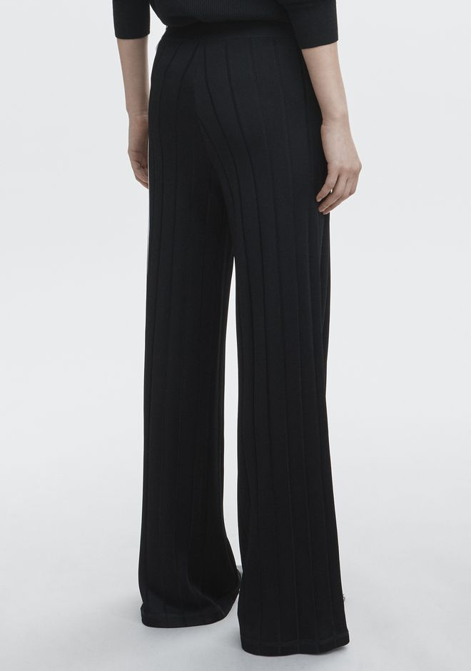 ALEXANDER WANG EXCLUSIVE TRACK PANTS WITH BARCODE LOGO PANTS Adult 12_n_r