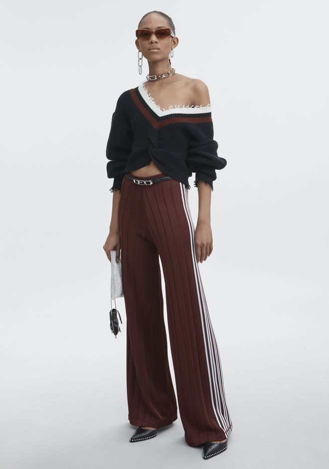 ALEXANDER WANG EXCLUSIVE TRACK PANTS WITH BARCODE LOGO