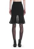 ALEXANDER WANG KNEE LENGTH SKIRT WITH RUFFLED BALL CHAIN HEM SKIRT Adult 8_n_a