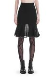 ALEXANDER WANG KNEE LENGTH SKIRT WITH RUFFLED BALL CHAIN HEM SKIRT Adult 8_n_d