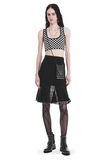 ALEXANDER WANG KNEE LENGTH SKIRT WITH RUFFLED BALL CHAIN HEM SKIRT Adult 8_n_f