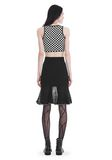 ALEXANDER WANG KNEE LENGTH SKIRT WITH RUFFLED BALL CHAIN HEM SKIRT Adult 8_n_r
