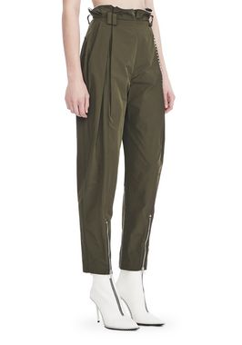 HIGH WAISTED ARMY PANTS WITH BALLCHAIN
