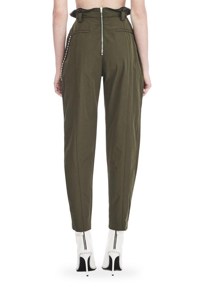 ALEXANDER WANG HIGH WAISTED ARMY PANTS WITH BALLCHAIN 裤装 Adult 12_n_a