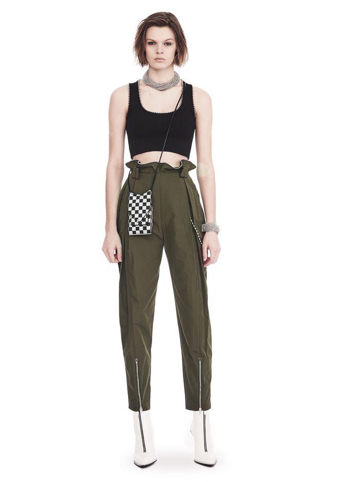 ALEXANDER WANG HIGH WAISTED ARMY PANTS WITH BALLCHAIN 裤装 Adult 12_n_f