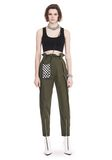 ALEXANDER WANG HIGH WAISTED ARMY PANTS WITH BALLCHAIN 裤装 Adult 8_n_f